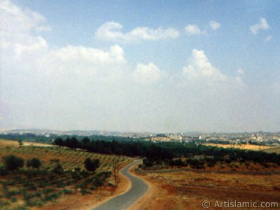 View towards Gaziantep city of Turkey from distant.