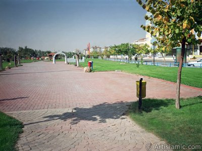 View of a park in Gaziantep city of Turkey.