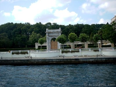 View of the Ciragan Palace from the Bosphorus in Istanbul city of Turkey.