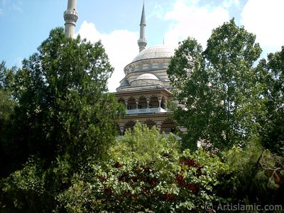 View of the Theology Faculty of The Marmara University and its mosque in Altunizade district of Istanbul city of Turkey.