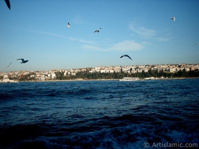 View of Uskudar-Harem coast from the Bosphorus in Istanbul city of Turkey. (The picture was taken by Artislamic.com in 2004.)