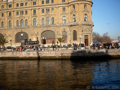 View of Haydarpasha coast and train station from the sea in Istanbul city of Turkey. (The picture was taken by Artislamic.com in 2004.)