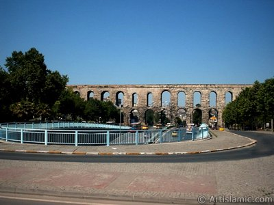 Bozdogan Aqueduct in Fatih district in Istanbul city of Turkey.