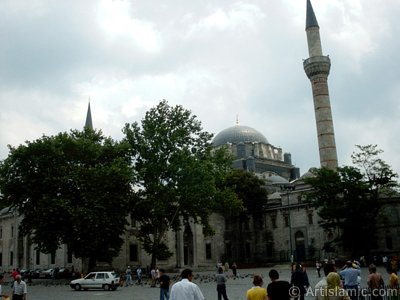 Beyazit Square and Beyazit Mosque located in the district of Beyazit in Istanbul city of Turkey.