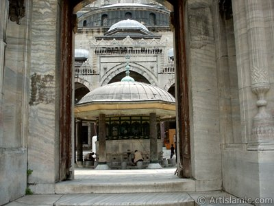 Beyazit Mosque located in the district of Beyazit in Istanbul city of Turkey.