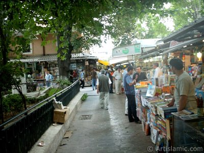 Historical Sahaflar (Book market) in Beyazit district in Istanbul city of Turkey. (The picture was taken by Artislamic.com in 2004.)