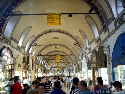 The historical Grand Bazaar located in the district of Beyazit in Istanbul city of Turkey. (The picture was taken by Artislamic.com in 2004.)