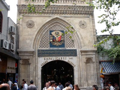 The historical Grand Bazaar located in the district of Beyazit in Istanbul city of Turkey.