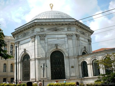 The Tombs of Sultan Abdulhamit The Second and Mahmud The Second in Cemberlitas district in Istanbul city of Turkey.