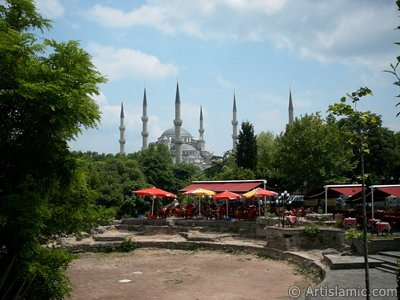 Sultan Ahmet Mosque (Blue Mosque) located in the district of Sultan Ahmet in Istanbul city of Turkey.