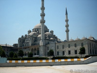 View of Yeni Cami (Mosque) located in the district of Eminonu in Istanbul city of Turkey.