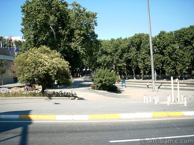 View towards Besiktas district from Dolmabahce district in Istanbul city of Turkey. (The picture was taken by Artislamic.com in 2004.)