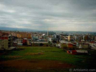 View of Hamitler district in Bursa city of Turkey.