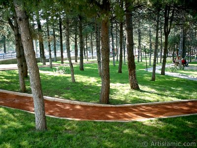 View of a park in Fethiye district in Bursa city of Turkey. (The picture was taken by Artislamic.com in 2004.)