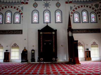 View of the Theology Faculty`s mosque in Bursa city of Turkey.