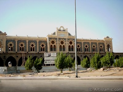View of the Ottoman made historical Hijaz Railway`s Station in Madina city of Saudi Arabia. (The picture was taken by Mr. Mustafa one of the visitors of Artislamic.com in 2003 Ramadan.)