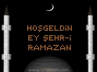 islamiSanat.net tarafından Ramazan münasebetiyle tasarlanmış bir e-kart resmi.