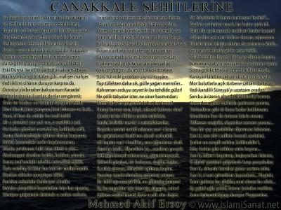 islamiSanat.net tarafından Çanakkale Savaşı ve Çanakkale Zaferi`nin yıldönümü münasebetiyle yapılmış bir çalışma. Bu çalışma vesilesi ile bütün şehit ve gazilerimizi rahmetle anıyoruz. Çalışmanın arka planında Çanakkale Savaşı`nın gerçekleştiği mıntıkalardan Çanakkale sahillerine ait bir fotoğraf yer almaktadır. Fotoğraf bizzat tarafımızdan özel olarak çekilmiştir. (© islamiSanat.net. Bu eserin her hakkı saklıdır, ticari maksatla kullanılması yasaktır.)